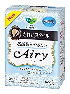 Japanese Women Sanitary Napkin Laurier beautiful style Airy fragrance-free 54 co input by Rollier