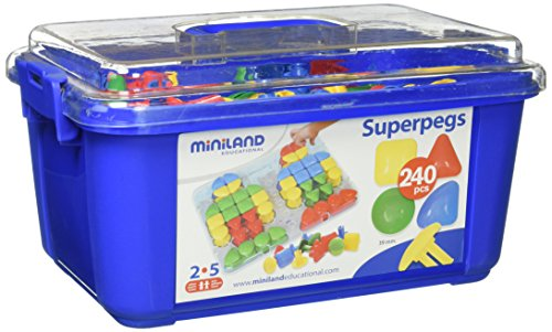 Miniland Super Pegs in Container, 240-Piece by Miniland