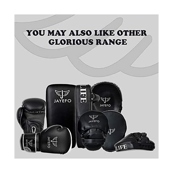 Jayefo Glorious Boxing Gloves Muay Thai Kick Boxing Leather Sparring Heavy Bag Workout Pro Leather Gloves Mitts Work for Men & Women 7