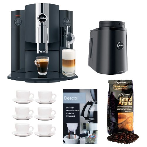 Jura Impressa C9 One Touch Espresso Machine (Refurbished/Piano Black) + JURA Cool Control Basic Temperature Controlled Milk Container + Accessory Bundle