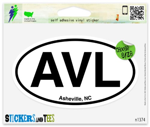 Amazon com avl asheville nc north carolina oval car sticker indoor outdoor 5 x 3 automotive