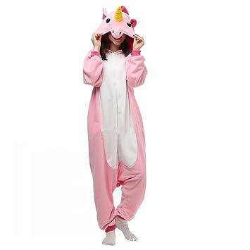 Colorfulworld Unicornio Anime Disfraces Kigurumi Trajes Disfraz Cosplay Animales Pijamas Pyjamas Ropa (L, pink