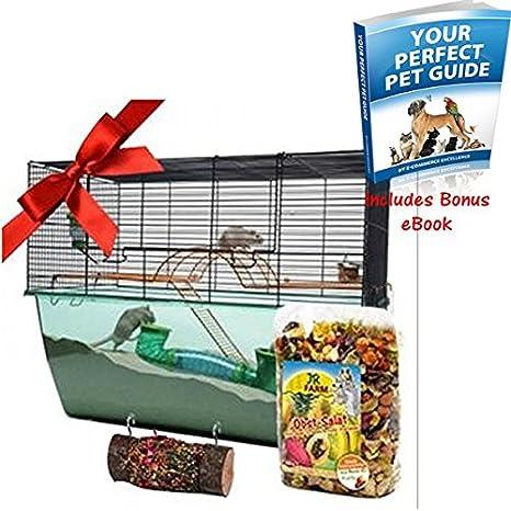 Ultimate pequeña jaula Set de regalo - apto para hámsters, ratón ...