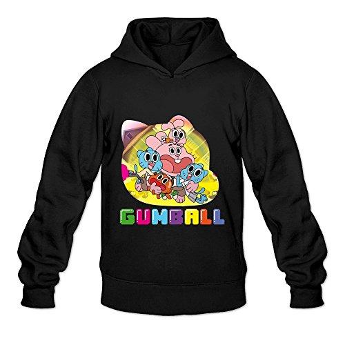 Men's The Amazing World Of Gumball Hooded Sweatshirt Size M Black