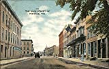 Looking Along Main Street Portage, Wisconsin Original Vintage Postcard