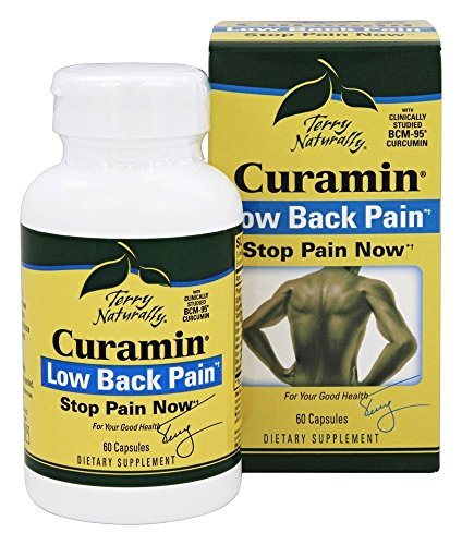 Terry Naturally Curamin Low Back Pain (2 Pack) - 60 Vegan Capsules - Targeted Relief Supplement, Supports Healthy Cartilage & Comfort - Non-GMO, Gluten-Free - 20 -