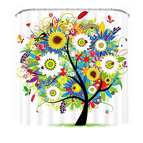 bright colored shower curtains - 1