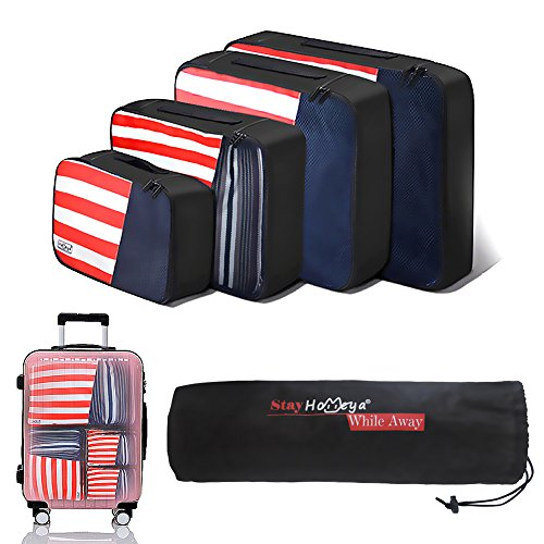 travel packing cube 4 sethomeya lightweight packing cubes mildew proof luggage organizer storage cubes laundry pouch bag great for travel