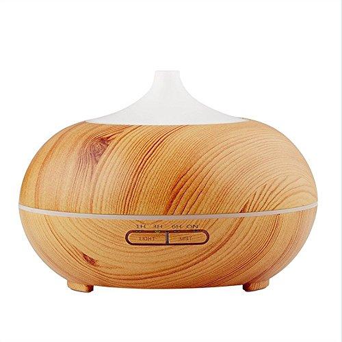 EEEKit 300ml Aromatherapy Essential Oil Diffuser Wood Grain Cool Mist Quiet Humidifier