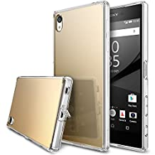 Xperia Z5 Premium Case, Ringke [FUSION MIRROR] Bright Reflection Radiant Luxury Mirror Bumper [Drop Protection/Shock Absorption Technology][Attached Dust Cap] For Sony Xperia Z5 Premium - Royal Gold