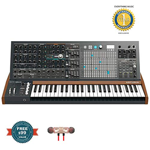 Arturia MatrixBrute Analog Matrix Synthesizer includes Free Wireless Earbuds - Stereo Bluetooth In-ear and 1 Year Everything Music Extended Warranty
