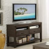 Console TV Table in Cocoa Finish