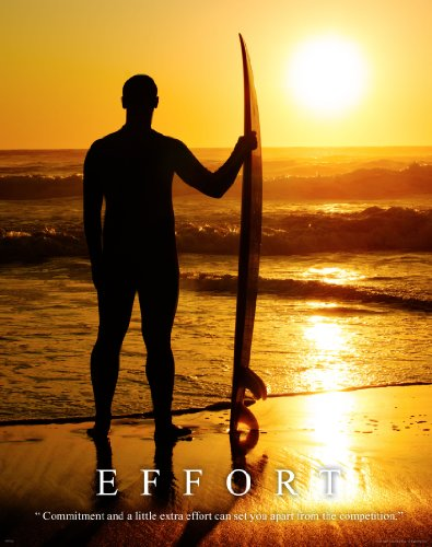 Surfing Motivational Poster Art Print 11x14 Longboard Surfboard Women's Wet Suit Shorts Wall Decor - Ladies Suit Photo