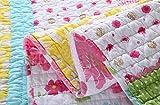 HNNSI Cotton Kids Girls Bedspread Quilt Sets