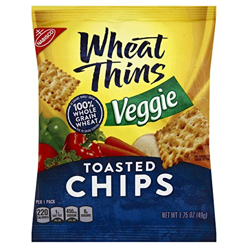 Wheat Thins Toasted Chips, Veggie, 1.75 Ounce (Pack of 60)