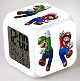 Enjoy Life : Cute Digital Multifunctional Alarm Clock With Glowing Led Lights and Super Mario sticker, Good Gift For Your Kids, Comes With Bonuses Part 1 (03)
