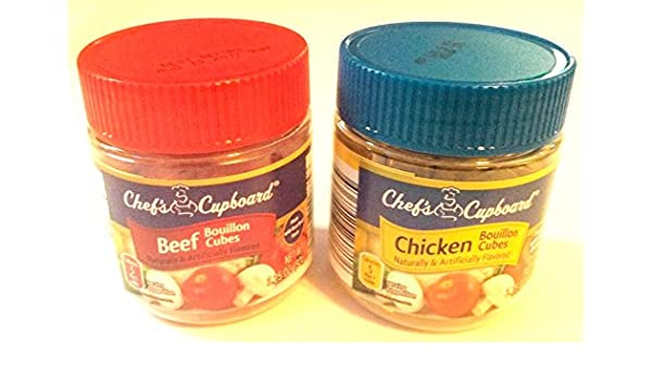 Amazon.com : Chefs Cupboard Beef Bouillon and Chicken Bouillon Combo Pack : Grocery & Gourmet Food