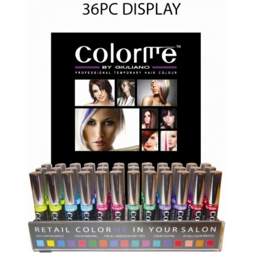 Colorme by GIULIANO Professional Temporary Hair Colour 36pc Display by color me by giuliano