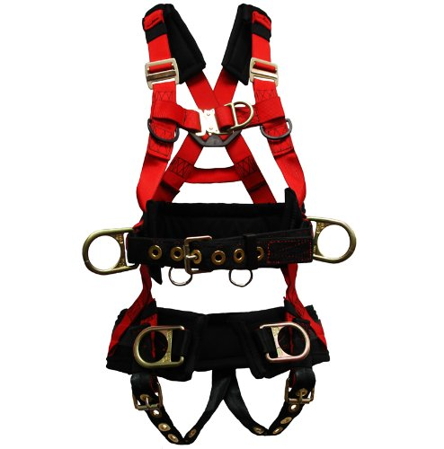 Elk River 66624 EagleTower Polyester/Nylon LX 6 D Ring Harness with Quick Connect Buckles, X Large