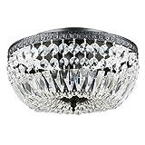 Bowl Style Near Black Crystal Basket Flush Mount Chandelier 3-light Ceiling Fixture Review