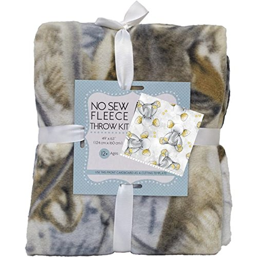 Teddy Bear No-Sew Throw Blanket Fleece Fabric (Care Bears Fleece)