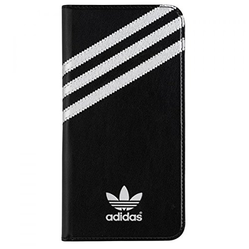 adidas 005609 Original Booklet Case für Apple iPhone 6/6S Plus schwarz/silber