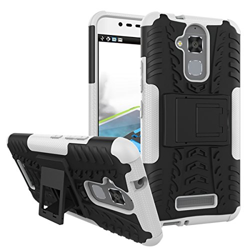 Shockproof Armor TPU/PC Case for Asus Zenfone Max (White) - 3