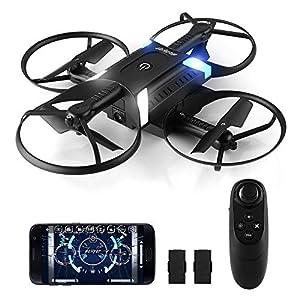 HELIFAR H816 Drone con Telecamera, Mini Drone con WiFi FPV HD 720P App, Pieghevole RC, Headless Modo e Altitude Hold Un Pulsante di Frenata d'emergenza, Ideale Regalo per Bambini 2 spesavip