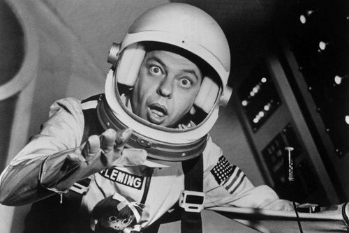 Don Knotts in The Reluctant Astronaut in Space Suit Wide-Eyed! 11x17 Mini -
