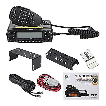 TYT TH-9800 Quad Band 50W Cross-Band Mobile Car Ham Radio Black SAIN-Import TYT-TH-9800