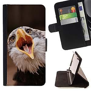 Momo Phone Case / Flip Funda de Cuero Case Cover - Boca grande Águila;;;;;;;; - HTC One M9
