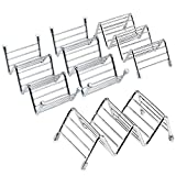 4 Pack Stainless Steel Taco Holders Taco Stand Rustproof Taco Rack Hold 2 or 3 Hard or Soft Shell Tacos Truck Tray Style Oven Safe for Baking