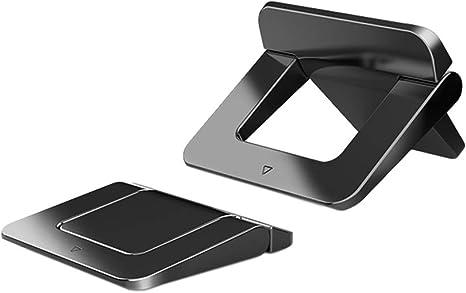 BHAIR5 Soporte para ordenador portátil, Mini Stealth elevador para portátil, almohadillas delgadas plegables para ordenador portátil, teléfono/teclado ...
