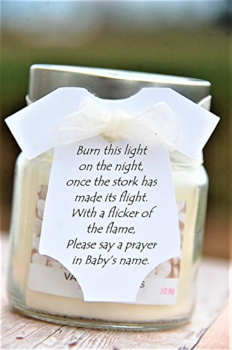 Burn this light ~ Tag Only ~Baby Onesie Gift Tags ~ Baby Shower Tags ~ 10 tags ~ 2 (Baby Shower Prayer)