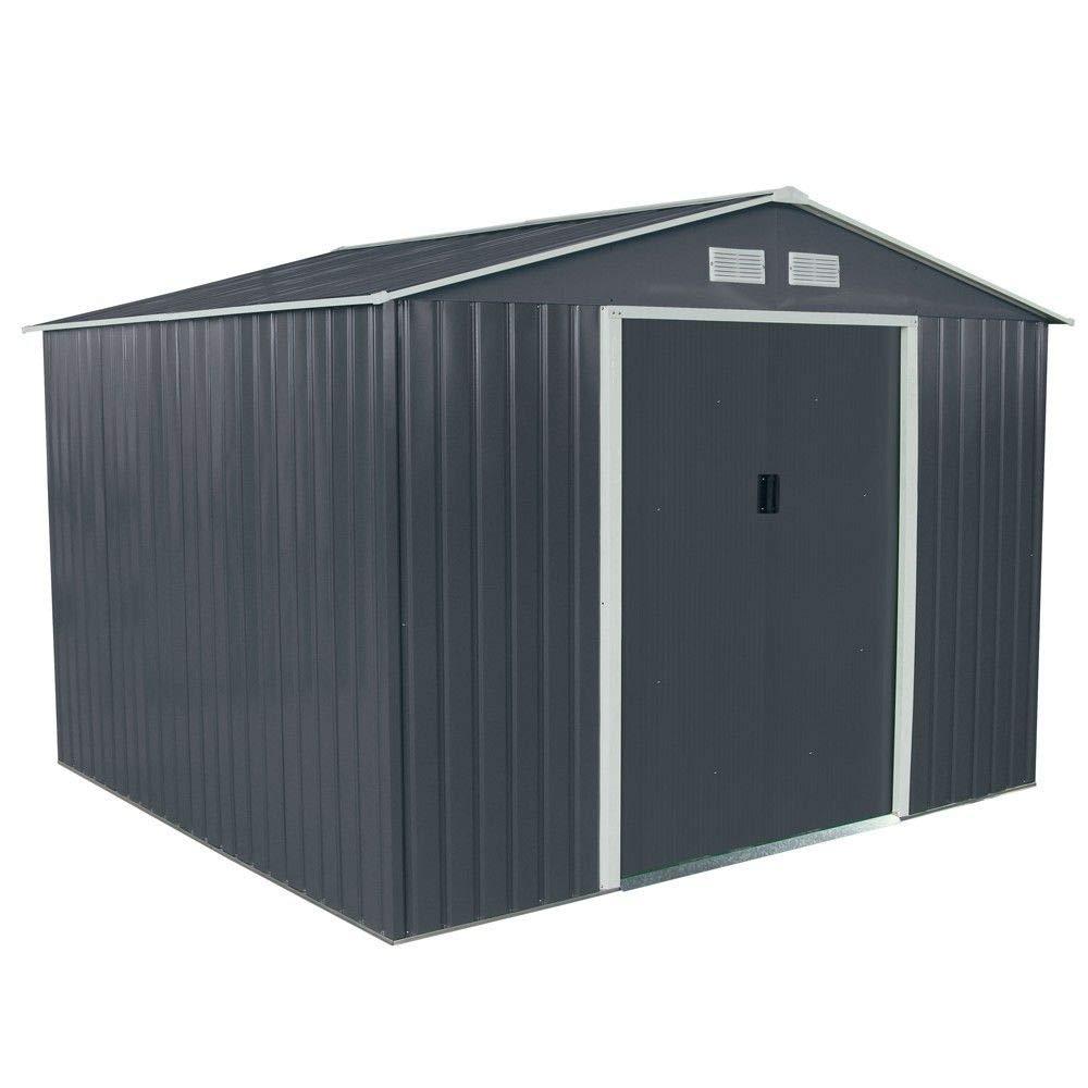 Habit Casita caja de chapa galvanizada gris para herramientas de jardín Classicgrey/XL: Amazon.es: Jardín