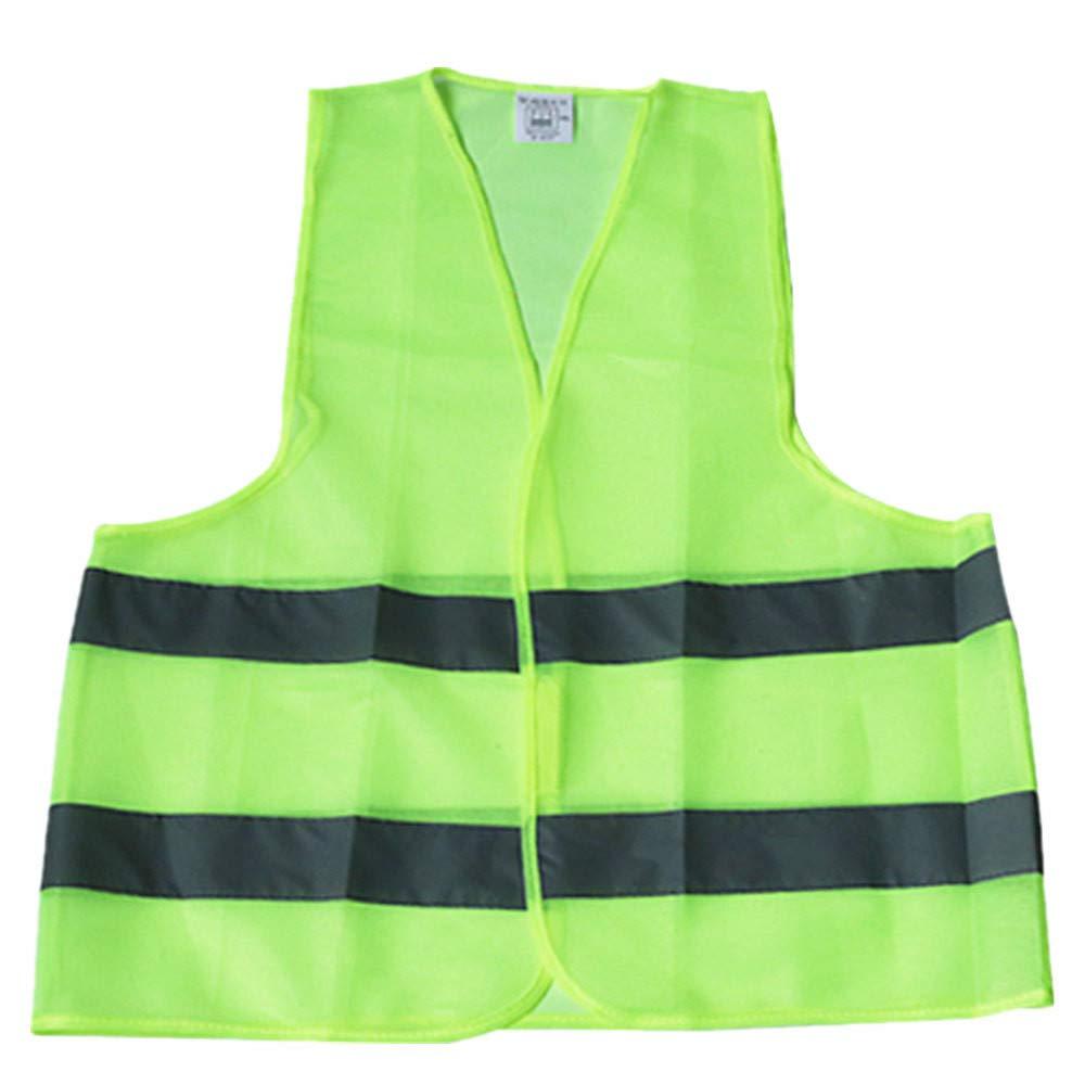 Guesspower Gilet Jaune Enfant Gilet Jaune de securite Gilet Jaune Moto Gilet Jaune Femme Gilet Jaune Voiture Gilet Jaune Moutarde Femme Gilet Jaune-Infroissable Taille Standard Vert Lavable