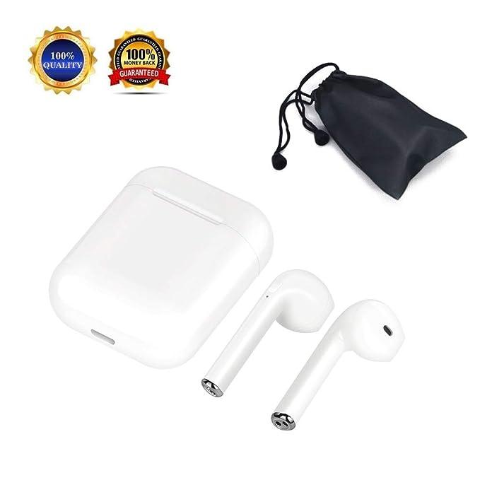 Auriculares Bluetooth, audífonos inalámbricos audífonos intrauditivos Auriculares micrófono con reducción de Ruido I6 X 8
