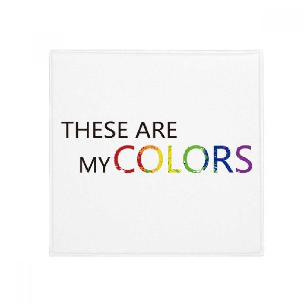 60X60cm DIYthinker LGBT Rainbow Flag These are My colors Anti-Slip Floor Pet Mat Square Bathroom Living Room Kitchen Door 60 50Cm Gift