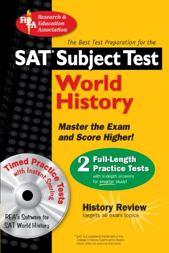 SAT Subject Test: World History with CD (SAT PSAT ACT (College Admission) Prep)