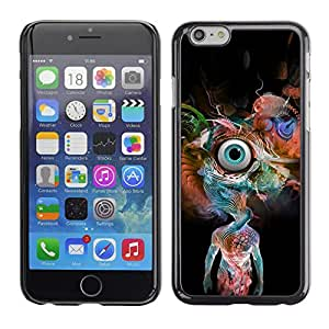 LECELL--Funda protectora / Cubierta / Piel For iPhone 6 -- Psychedelic Snake Eye --