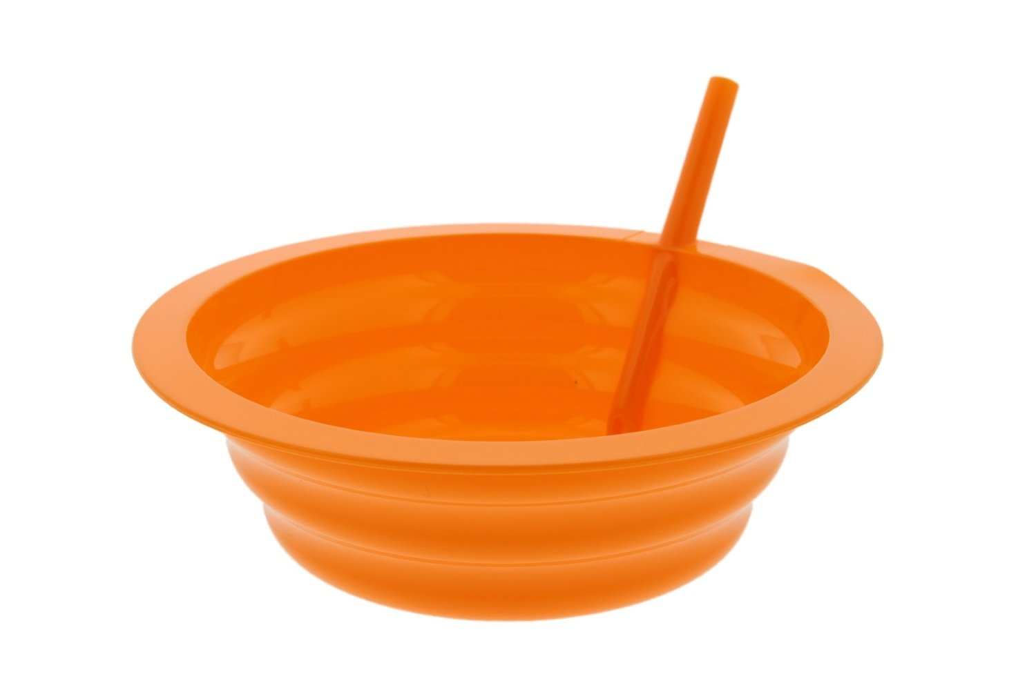 Arrow Sip-A-Bowl With Built In Straw, 22 oz, Blue, Purple,Green, Orange (4 Pack) by Arrow Home Products (Image #8)