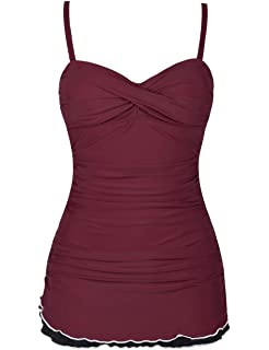 f9dc9df597 ALove Swimsuits for Women One Piece Padded Ruched Swimsuit Swimming ...