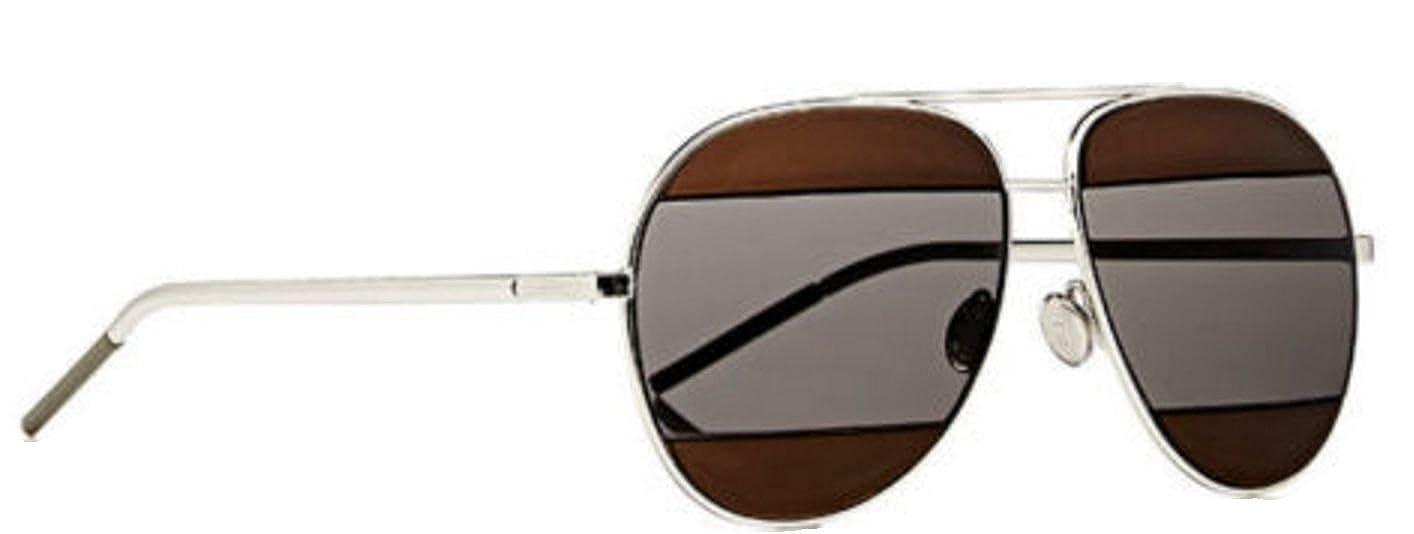 eb05e03f88 Amazon.com: Authentic Christian Dior SPLIT 1 2JY/KU Gold Sunglasses:  Clothing