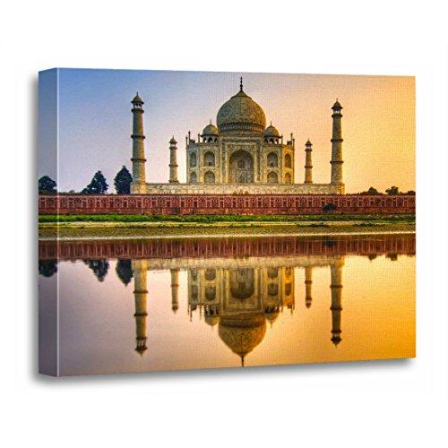 TORASS Canvas Wall Art Print Tajmahal Taj Mahal Agra Uttar India Sunset Artwork for Home Decor 12'' x 16'' by TORASS
