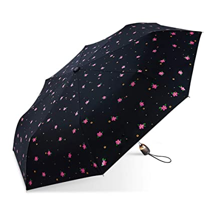 LINNAN Paraguas Plegable, ProteccióN Solar UV ProteccióN ...