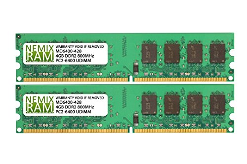 8GB (2x4GB) DDR2-800 PC2-6400 240-pin DIMM Memory RAM Dual Rank Non-Ecc Unbuffered for Desktop PC Computer