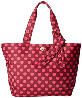 kate spade new york Flatiron Nylon Barbara Shoulder Bag,Bacchus Red New York Apple,One Size