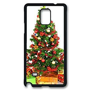 DecorAted ChrIstmas Tree And Gifts Polycarbonate Hard Case Cover for Samsung Galaxy S3/I9300 Black