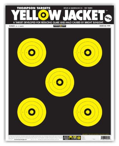 Yellow Jacket - Paper Gun Range Shooting Targets 15x19 Inch (10 Pack)