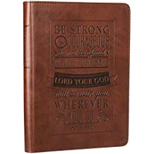 """Be Strong & Courageous"" Brown Flexcover Journal - Joshua 1:9"